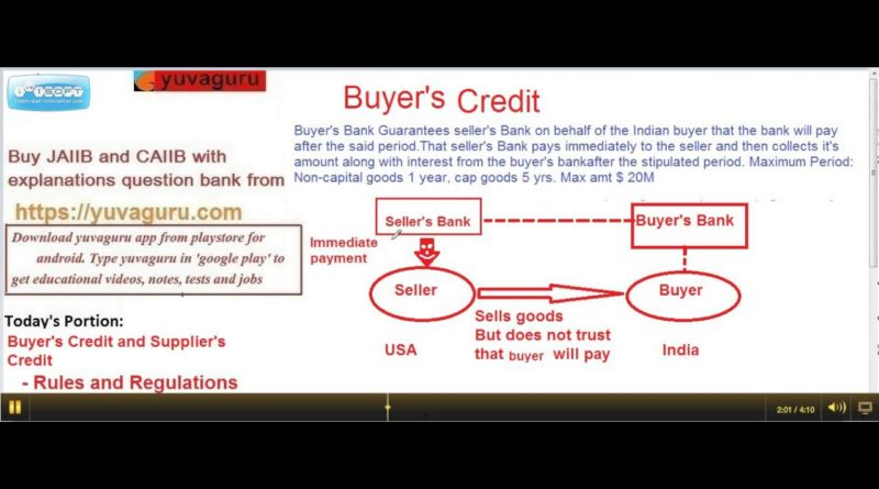 BUYER'S CREDIT AND SUPPLIER'S CREDIT MEANING BY VISHAL MANTRI 9960560404 1