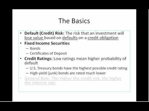 Default (Credit) Risk 1