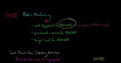 Cash Flow from Investing (Statement of Cash Flows) 3