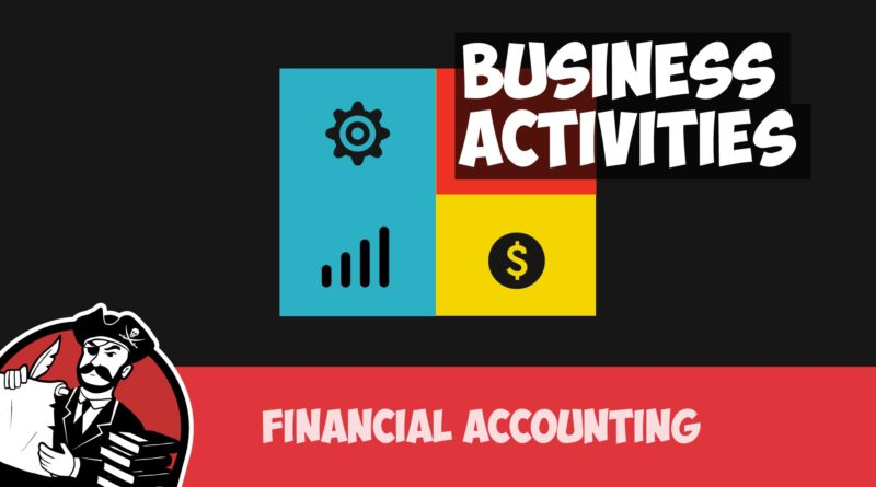 Business Activities: Operating, Investing and Financing (Financial Accounting Tutorial #4) 1
