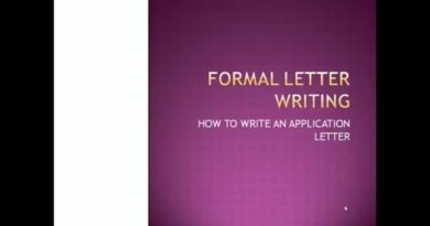 How to write Job Application Letter 4