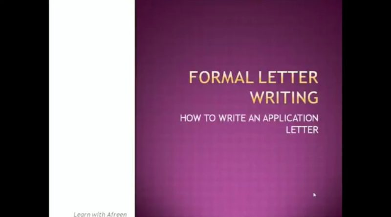 How to write Job Application Letter 1
