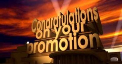 Congratulations on your promotion 3