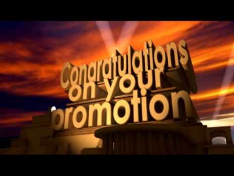 Congratulations on your promotion 1