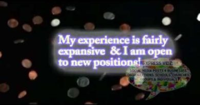 Looking 4 job opps c1 XpReSs ViDz personal promotion friend announcement question2 3