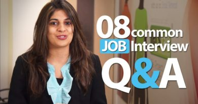 08 common Interview question and answers - Job Interview Skills 2