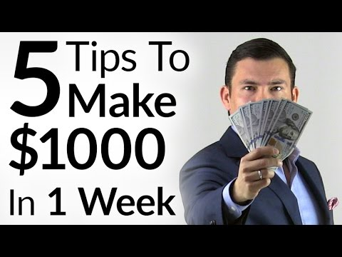 5 Tips To Make $1000 In 1 Week | Entrepreneur Mindset & Tactics To Increase Personal Income 1