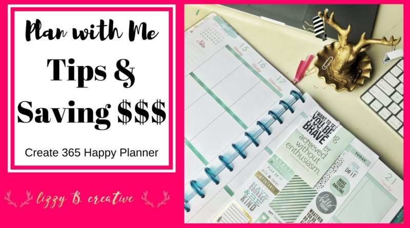 Plan with me | Tips & Saving $$$ | MAMBI Create 365 Happy Planner 1
