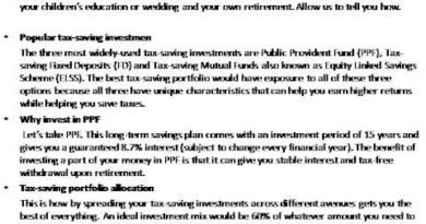 Best Tax Saving Plan - How to Build a Portfolio of Tax-saving Investments 3