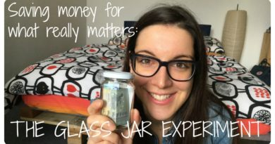 Saving money for what really matters: the glass jar experiment | Minimalist tips 4