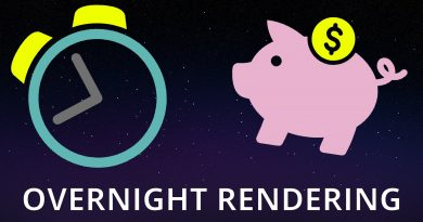 Saving money when rendering overnight in Blender! 3