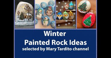 Winter Painted Rocks Ideas - Christmas Rock Painting Ideas - Christmas Crafts to Make and Sell 2