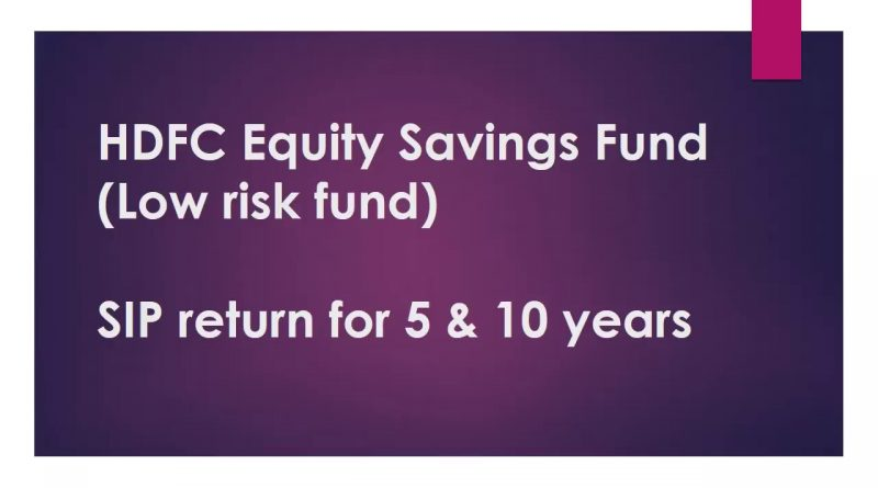 HDFC Equity Savings Fund | SIP Return for 5 & 10 Years | Best Mutual Funds India 1