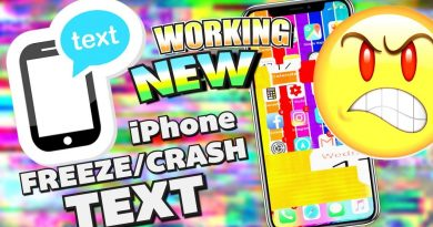 *NEW WORKING* How To Freeze/Crash an iPhone WITH TEXT iOS 11 - 11.2.2 + FIX 3