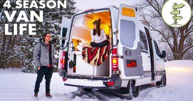 Young Entrepreneurs Living in a Camper Van to Save Money & Travel - Van Life 3