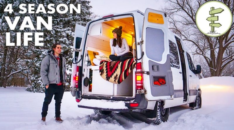 Young Entrepreneurs Living in a Camper Van to Save Money & Travel - Van Life 1