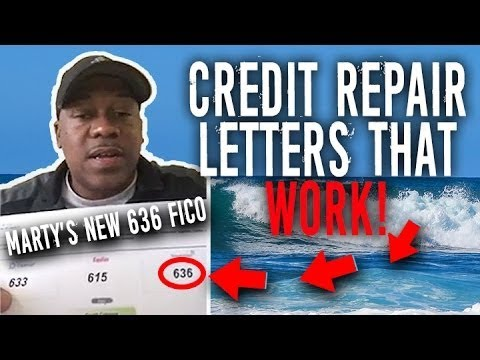 Credit Repair Letters That Work! || Marty's Testimonial 490 to 636 Credit Score || FICO Boosted! 1
