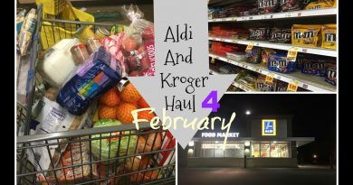 Aldi And Kroger Haul Food For A MOnth 4