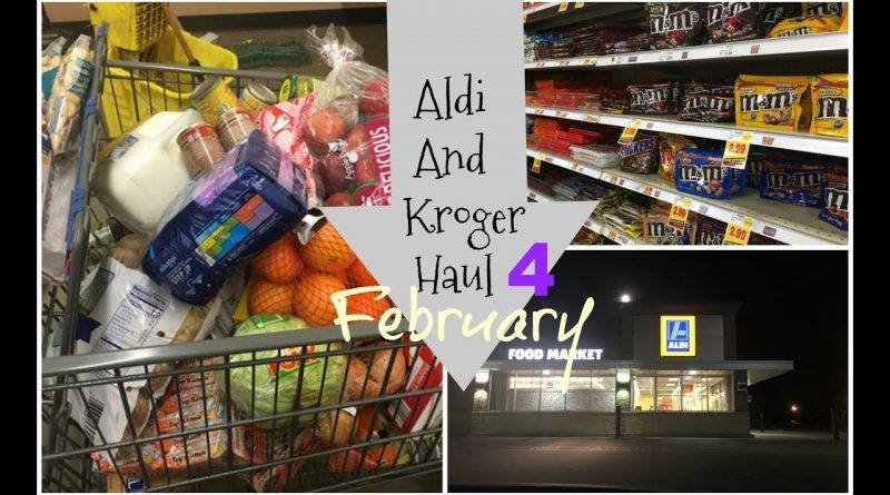 Aldi And Kroger Haul Food For A MOnth 1