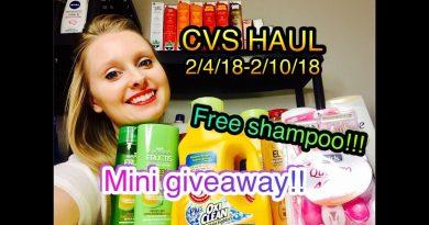 CVS HAUL 2/4/18-2/10/18 | FREE SHAMPOO & MINI GIVEAWAY!!!!! 4