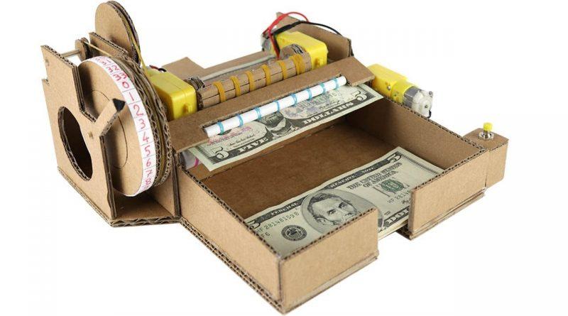 How To Make Money Counting Machine - Cardboard 1