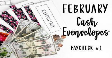 Stuffing My February Cash Envelopes and Sinking Funds | PayCheck #1| E.Michelle 4