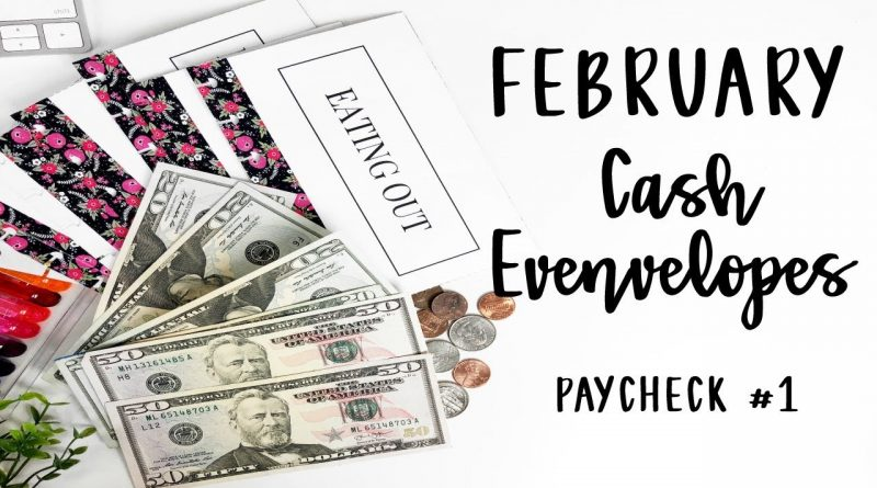 Stuffing My February Cash Envelopes and Sinking Funds | PayCheck #1| E.Michelle 1