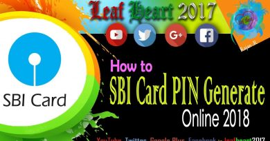 How to PIN Generate  SBI Credit Card online 2018 4