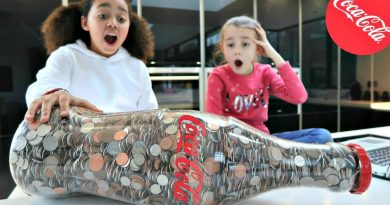 DIY Coin Machine! Giant Coca Cola Bottle Of Coins - How Much Will We Get? 3