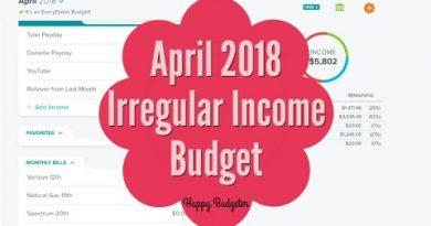 April 2018 Irregular Income Budget | Happy Budgeter 2