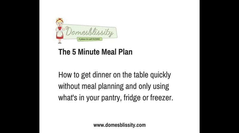 Grocery Shop # 2 - The 5 Minute Meal Plan 1
