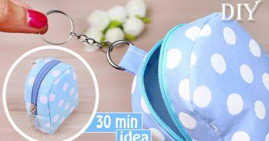 DIY MONEY POUCH BAG TUTORIAL | Keychain Idea 2018 Mini Bag Fast Making 2