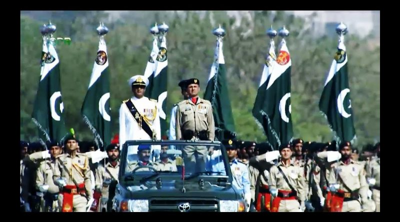 PAK ARMY ALAM PARTY PAF NAVY ARMY PERSONS NATIONAL  FLAG 23 MARCH PRADE 2018 1