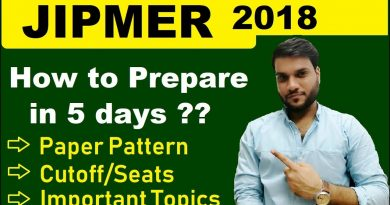 How to Prepare/Crack Jipmer 2018 | 5 Days Motivational Plan | Tips & Strategies By A. Arora Sir 3