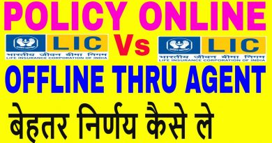 Online Insurance Vs Thru LIC Agent || Online lic Policy || Online pension plan in hindi 4
