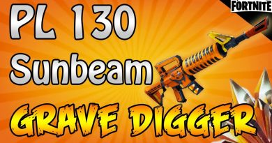FORTNITE - PL 130 Sunbeam Grave Digger Gameplay With Maxed Legendary Perks 3