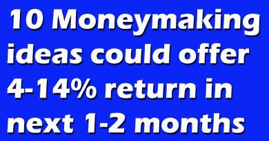 Top 10 moneymaking ideas could offer 4-14% return in next 1-2 months 2