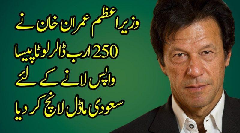 Prime Minister Imran Khan is Bringing Back Looting Money Using Saudi Plan 1