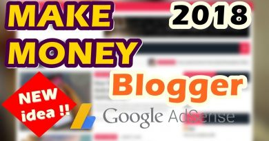 Make Money With Blogger and Adsense | No Niche Blog New Idea !! 2018 4