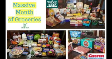 Massive Monthly Grocery Haul Costco Whole Foods Home Chef and Kroger 3