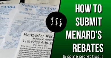 How to Submit Menard's Rebates | Menard's Rebate Tips | Saving Money Tips | Menard's 11% 4