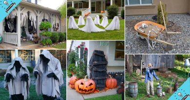 100 Cheap and Easy Outdoor Halloween Decor DIY Ideas   Garden ideas 3