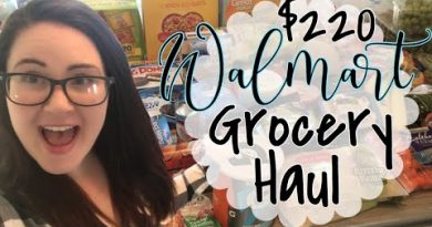 FAMILY OF 5 GROCERY HAUL + MEAL PLAN // WALMART 3