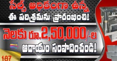 Latest business ideas Telugu | Earn Money with aluminium foil container making industry telugu -187 2