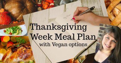Thanksgiving Week Meal Plan with Vegan Options 2