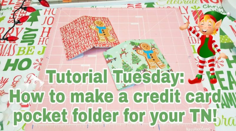 Tutorial Tuesday | How to make a credit card pocket folder for your TN | Planning With Eli 1