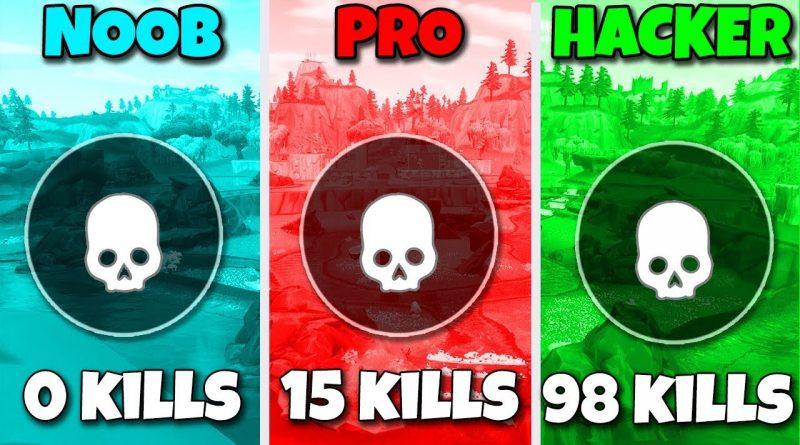 NOOB vs PRO vs HACKER in Fortnite Battle Royale! 1