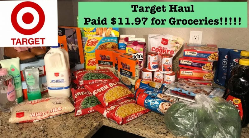Target Extreme Couponing Haul! Paid $11.97 for Groceries!!!! 1