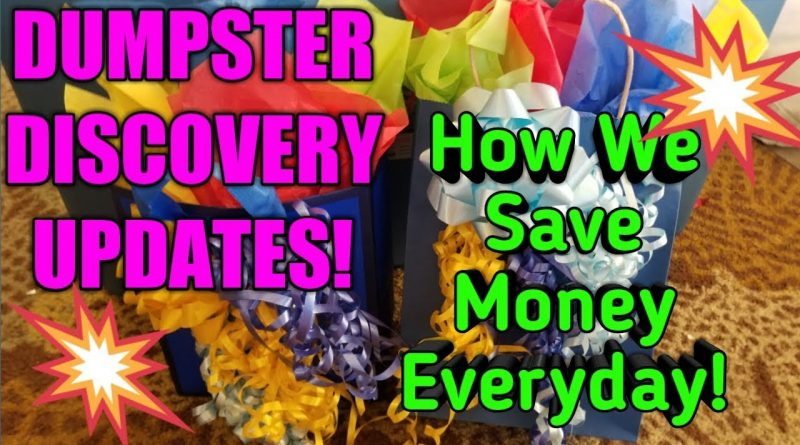 DUMPSTER DISCOVERY UPDATES! More Ways We Save Money With Dumpster Diving! 1