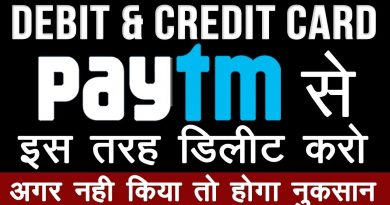 How to Delete Saved Debit and Credit card in Paytm App 2